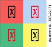 repair phone  vector  icon. | Shutterstock .eps vector #587132471