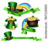 set of st.patrick's day logos.... | Shutterstock . vector #587133005