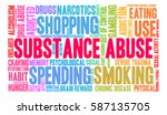 substance abuse word cloud on a ... | Shutterstock .eps vector #587135705