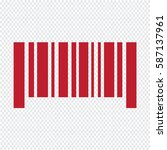 barcode icon | Shutterstock .eps vector #587137961