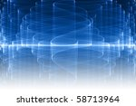 blue glass fractal with... | Shutterstock . vector #58713964