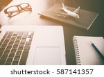 business travel agency on... | Shutterstock . vector #587141357