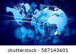 modern connection technologies...   Shutterstock . vector #587143601