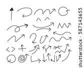 hand drawing doodle arrows  | Shutterstock .eps vector #587143655
