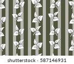 vintage tropical flower pattern ...   Shutterstock .eps vector #587146931