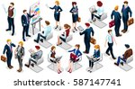 isometric man financial people... | Shutterstock .eps vector #587147741