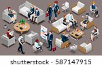 isolated group of diverse... | Shutterstock .eps vector #587147915