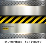background with warning stripes ... | Shutterstock .eps vector #587148059