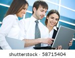 young business people work on... | Shutterstock . vector #58715404