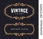 vintage antique frames  ... | Shutterstock .eps vector #587154095