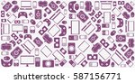 gadgets and devices pattern. | Shutterstock .eps vector #587156771