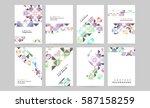 memphis geometric background... | Shutterstock .eps vector #587158259