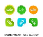 product stickers set with sale... | Shutterstock .eps vector #587160359