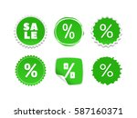 product stickers set with sale... | Shutterstock .eps vector #587160371