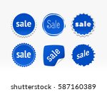 product stickers set with sale... | Shutterstock .eps vector #587160389