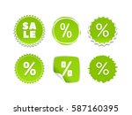 product stickers set with sale... | Shutterstock .eps vector #587160395