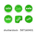 product stickers set with sale... | Shutterstock .eps vector #587160401