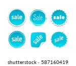 product stickers set with sale... | Shutterstock .eps vector #587160419