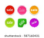 product stickers set with sale... | Shutterstock .eps vector #587160431