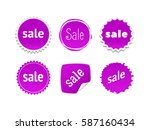product stickers set with sale... | Shutterstock .eps vector #587160434