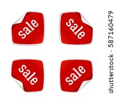 product stickers set with sale... | Shutterstock .eps vector #587160479