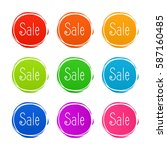 product stickers set with sale... | Shutterstock .eps vector #587160485