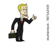 cartoon business man | Shutterstock .eps vector #587162435