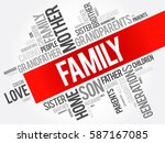family word cloud collage  ... | Shutterstock .eps vector #587167085