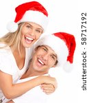 Young Happy Couple In Christma...