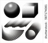 abstract geometric figures... | Shutterstock .eps vector #587174081