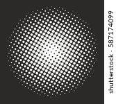 halftone pattern background... | Shutterstock .eps vector #587174099