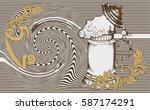 oktoberfest card. image of the... | Shutterstock .eps vector #587174291