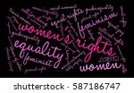 women's rights word cloud on a... | Shutterstock .eps vector #587186747