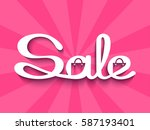 sale banner with calligraphic...