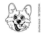 cute vector illustration of... | Shutterstock .eps vector #587200544