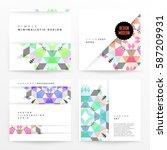 memphis geometric background... | Shutterstock .eps vector #587209931