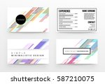 memphis geometric background... | Shutterstock .eps vector #587210075