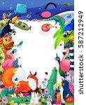 A4 Cartoon Animals Book Cover...
