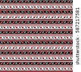 seamless pattern design... | Shutterstock .eps vector #587217581