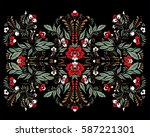 stock vector abstract hand draw ... | Shutterstock .eps vector #587221301