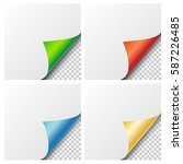 set of four vector colorful... | Shutterstock .eps vector #587226485