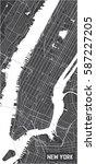 minimalistic new york city map... | Shutterstock .eps vector #587227205