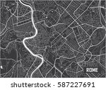 minimalistic rome city map... | Shutterstock .eps vector #587227691