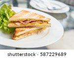 Ham Cheese Sandwich With Salad