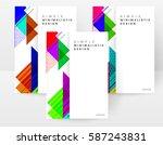 memphis geometric background... | Shutterstock .eps vector #587243831