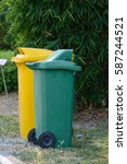 1. trash bins second color is... | Shutterstock . vector #587244521