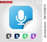 microphone icon. button with...