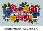 8 March. Happy Women's Day Car...