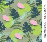 spring seamless pattern with... | Shutterstock .eps vector #587255471