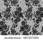 seamless black vector lace... | Shutterstock .eps vector #587257394